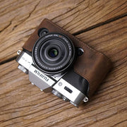 Leather half case for Fuji X-T20 Horse color