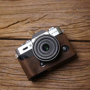 Leather half case for X-T20 Horse color