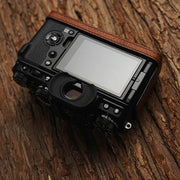 Leather camera half case <br>for Fuji X-T4 Red brown