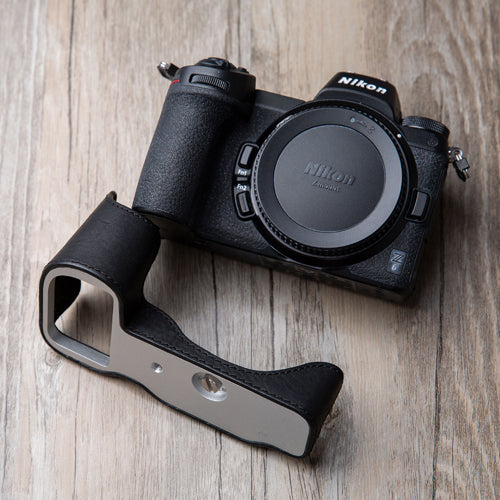 Leather camera half case <br>for Nikon Z6 Z7 Black