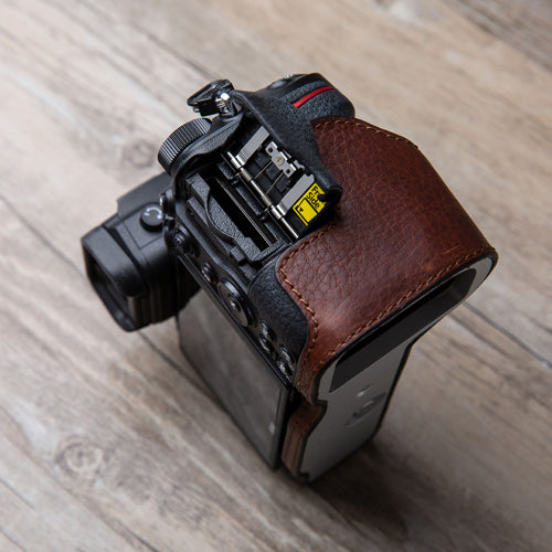 Leather camera half case <br>for Nikon Z6 Z7 Coffee