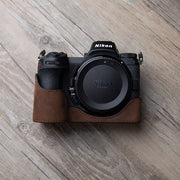 Leather camera half case <br>for Nikon Z6 Z7 Horse color