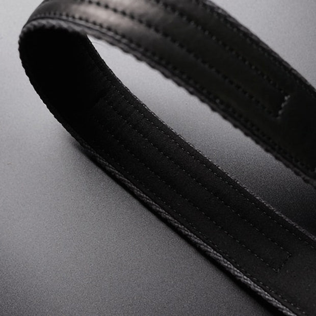 Leather neck camera strap