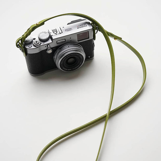 Hoden leather strap Green for camera