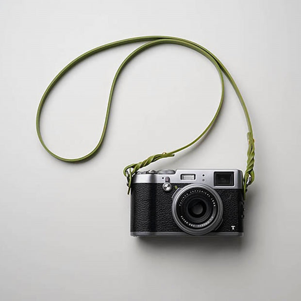 Hoden leather camera strap Green
