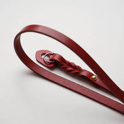 leather camera strap Red
