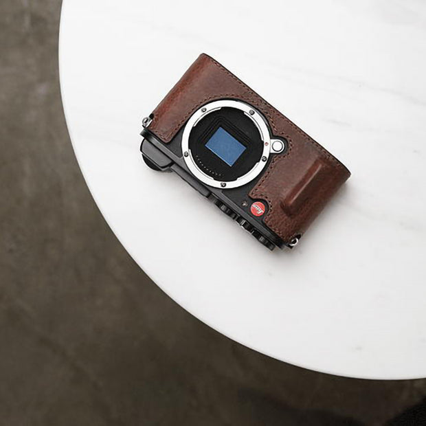 Leather half case for Leica CL