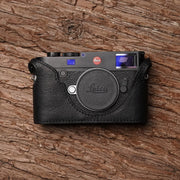 Leather camera half case for Leica M10 Black