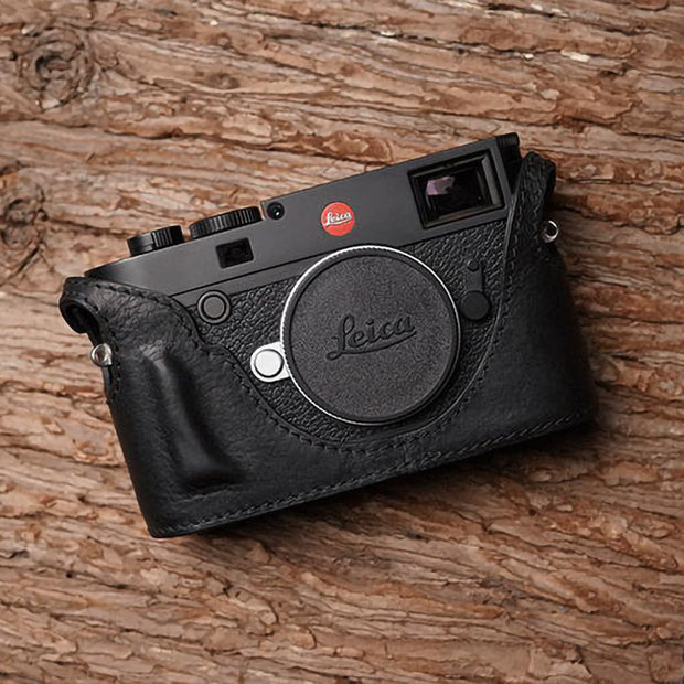 Leather camera case for Leica M10 Black