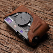 brown leather half case for Leica
