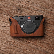 half case for Leica M10 Red brown with handle