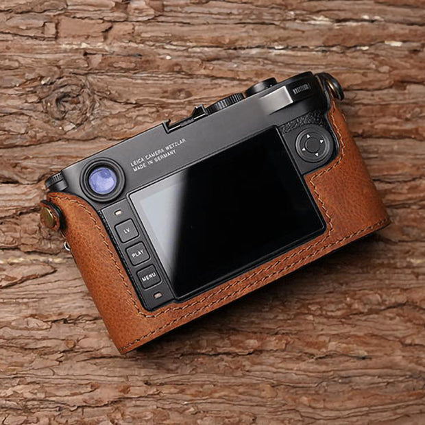half case for Leica M10 Red brown