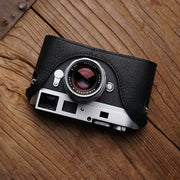 Leather camera case for Leica M9 Black