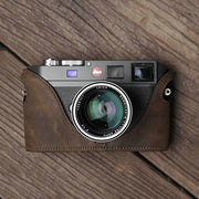 Leather camera half case for Leica M9 M Horse color