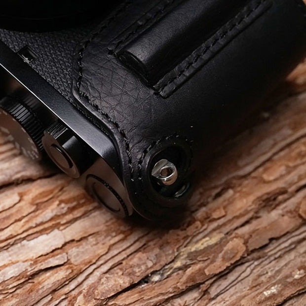 black Leather half case for Leica