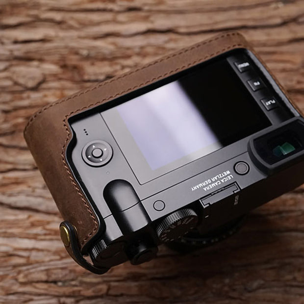 Leather camera half case for Leica Q2