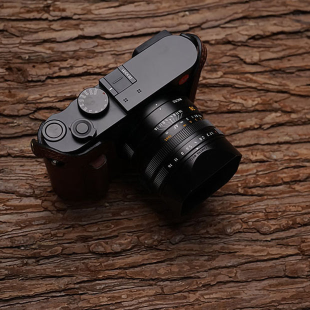 half case for Leica Q Red brown