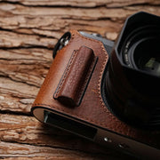 red brown half case for Leica Q
