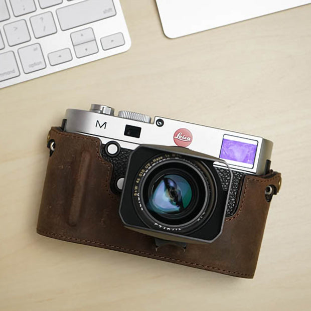 Leather camera half case for Leica M (Typ 240)