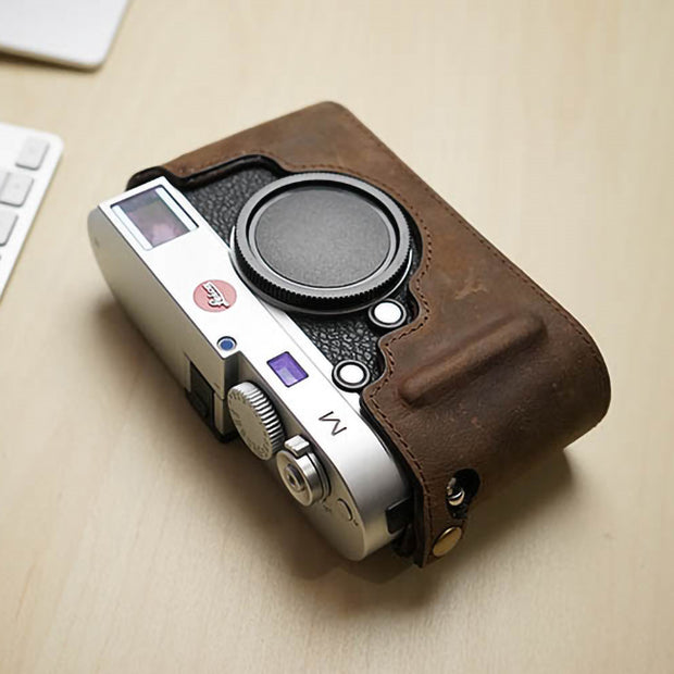 Leather half case for Leica M