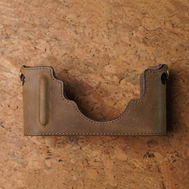 Leather camera half case for Leica M (Typ 240) Horse color