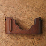 Leather camera half case for Leica M (Typ 240) Red brown