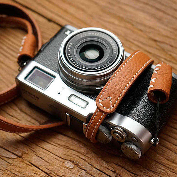 camel leather strap for camera