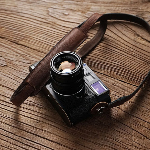 camera strap Red brown