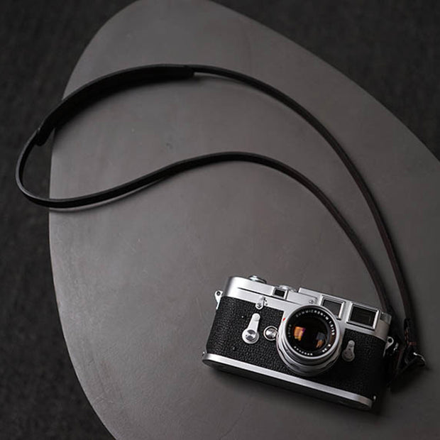Roled camera strap Deep coffee