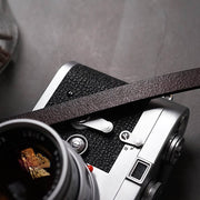 deep coffee camera strap