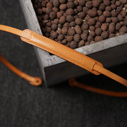 leather camera strap Natural color