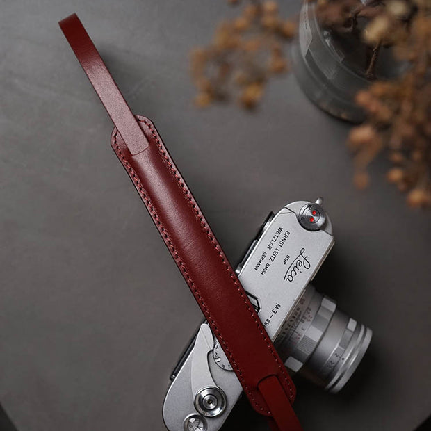 leather strap Wine red