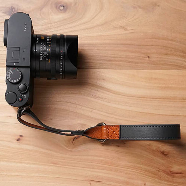 Leather wrist strap Gray
