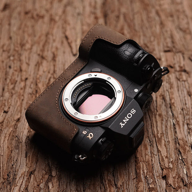 horse color camera half case for Sony A7III