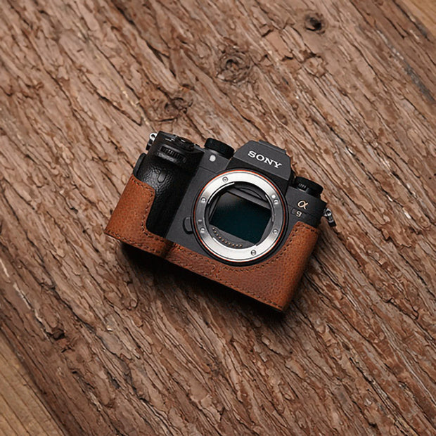 Leather half case for Sony A7III A7RIII