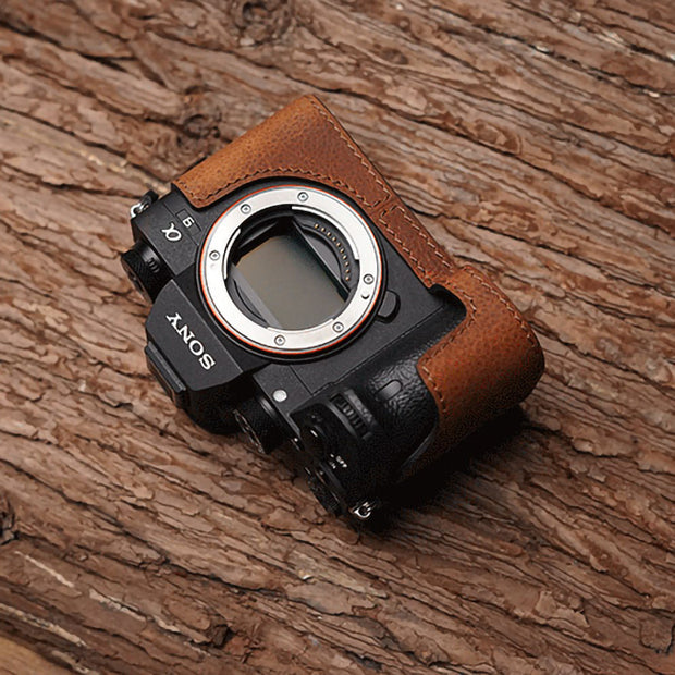 brown camera half case for Sony A7III