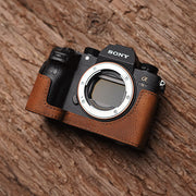 half case for Sony A7III brown