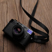 Sterly leather camera strap Black