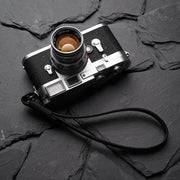 Strace leather camera wrist strap black