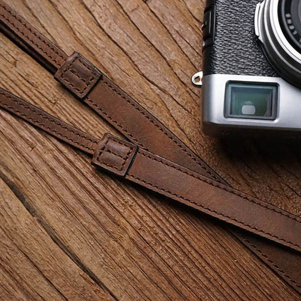 leather camera strap Horse color
