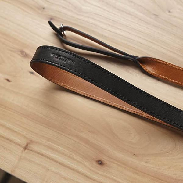 leather camera strap Black Brown