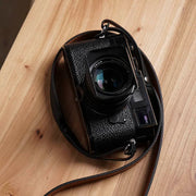 leather shoulder camera strap