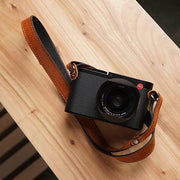Vestic leather camera strap <br>Brown Black