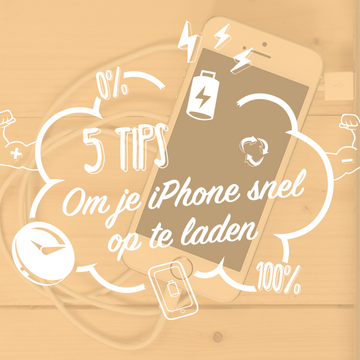 5 Tips om je iPhone snel op te laden