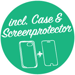 Inclusief Case en Screenprotector