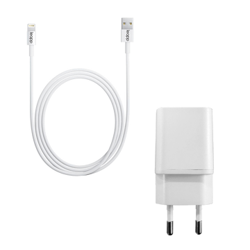 Adapter en Lightning Kabel - Wit
