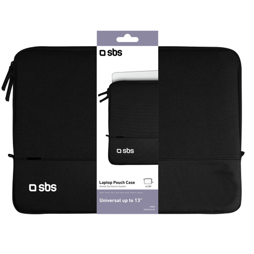 SBS Mobile Laptop Pouch Case 13 Inch - Zwart