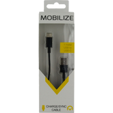 Mobilize Charge/Sync Cable USB-C 1m. Black