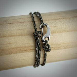 Urban Tactical Cord and Stainless Steel Bracelet in Camo