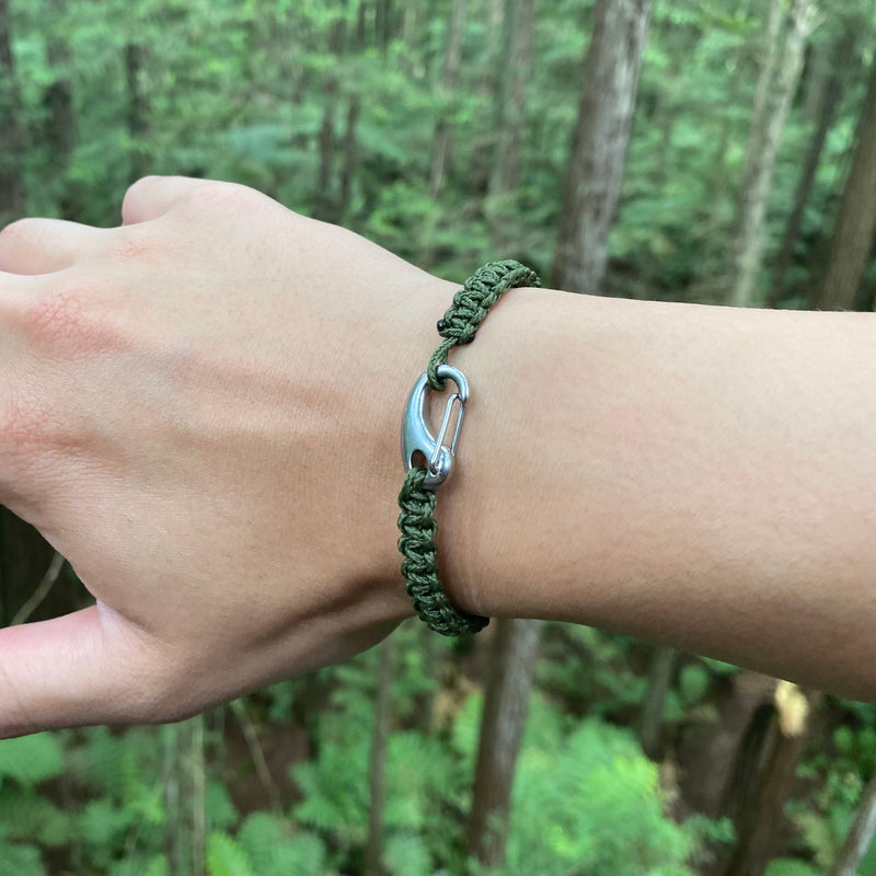 Terrain Tactical Braided Bracelet // Army Olive